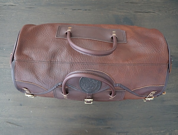 Top Carry Handle View Duluth Pack Mens Genuine Bison Leather Sportsman Duffel