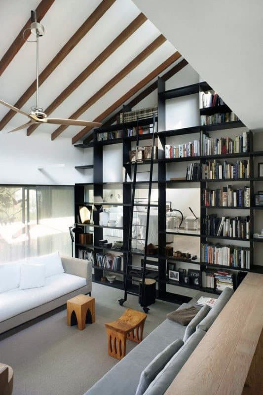 Top Floor Home Library Design Inspiration