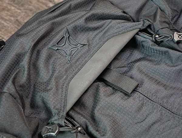 Top Of Front Pack Closed Vertx Edc Gamut Plus Backpack