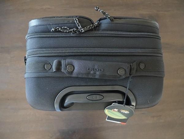 Top View Black Ogio Alpha Convoy 522s Travel Suitcase