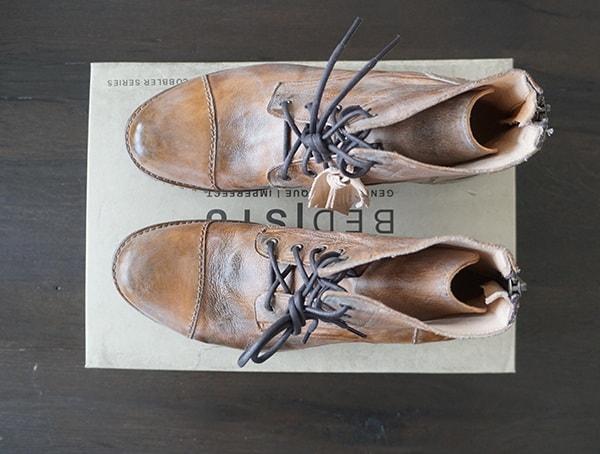 Top View Mens Bed Stu Protege Boots Tan Rustic Mason Bfs