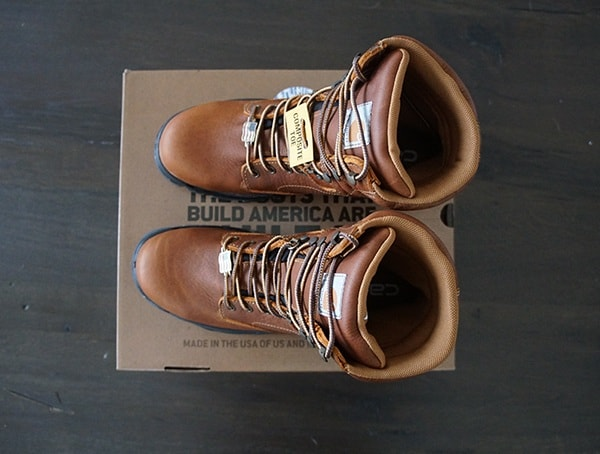 Top View Mens Carhartt Made In The Usa 8 Inch Composite Toe Work Boot