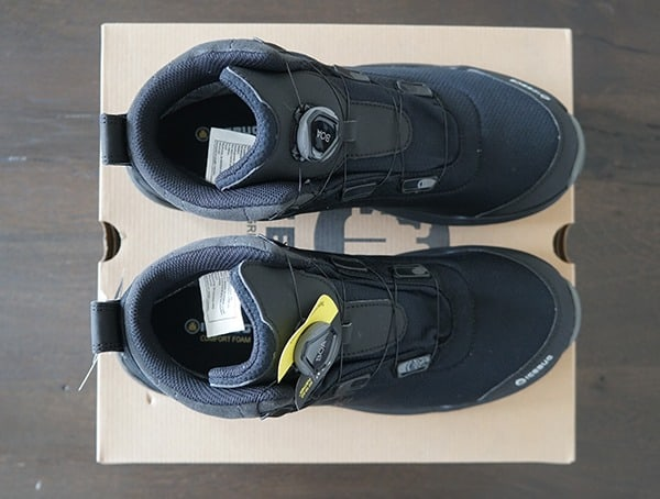 Top View Mens Cold Weather Black Icebug Detour Bugrip Gore Tex Boots