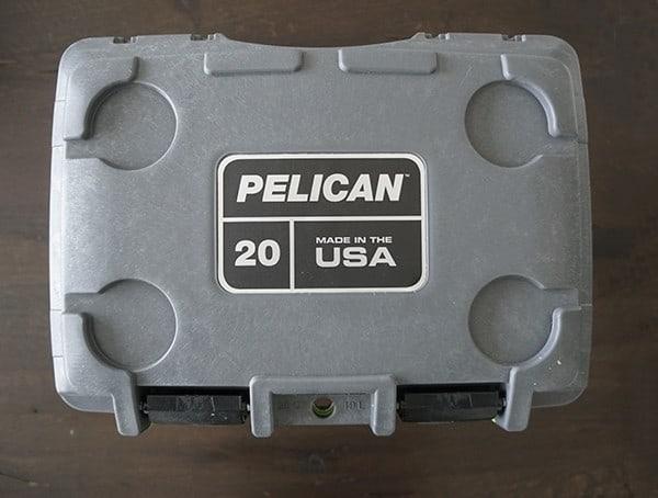 Top View Pelican 20 Qt Elite Coolers