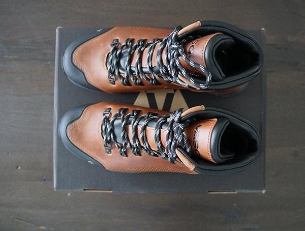 Top View Vasque St Elias Full Grain Gore Tex Cognac Mens Boots