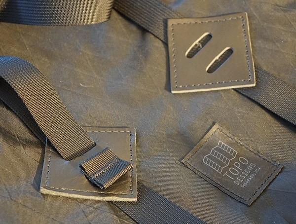 Topo Designs Klettersack Backpack Leather Details
