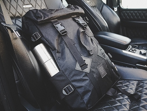 Topo Designs Klettersack Backpack Reviewed In Mercedes G63 Seat