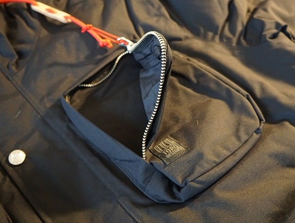 Topo Designs Mountain Jacket Large Upper Chest Zippered Pocket
