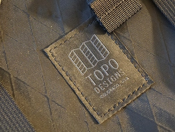 Topo Designs Stiched Logo Klettersack Backpack