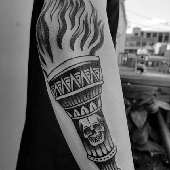Torch Male Tattoo Designs