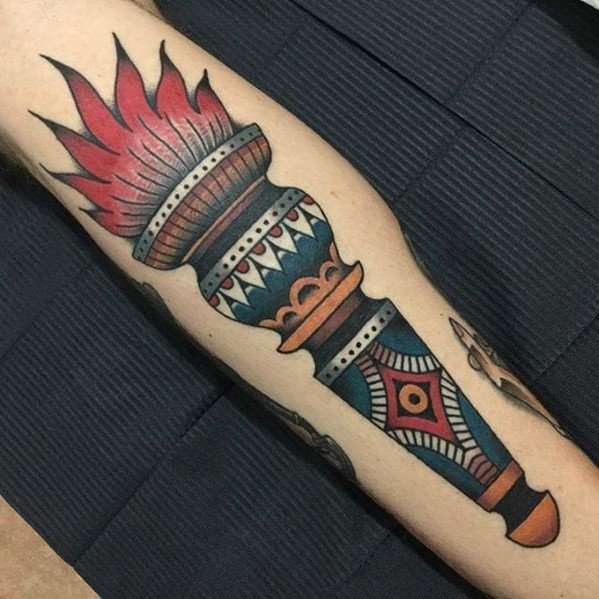 Torch Tattoos Men