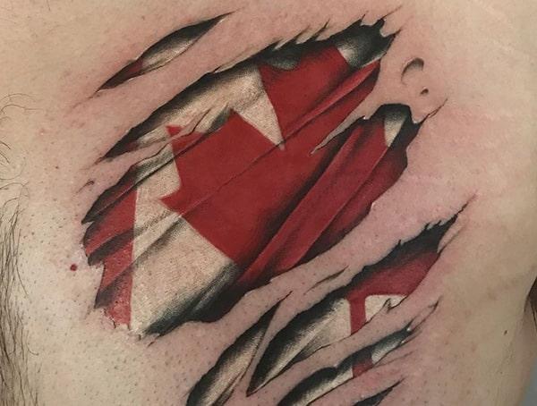 Torn Ripped Skin Tattoo Styles