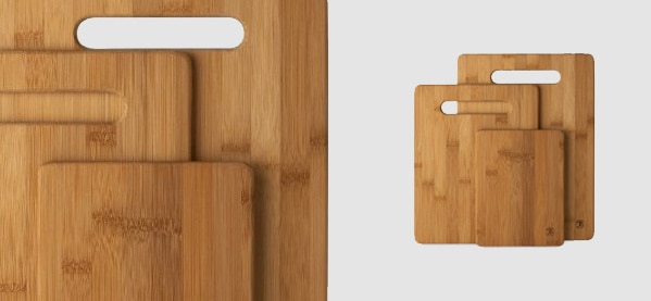 Totally Bamboo 3-Piece Cutting Board Set