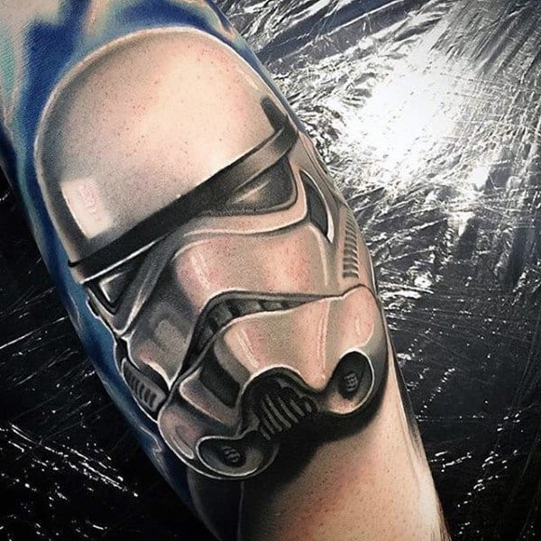Totally Realistic Star Wars Mask Tattoo Stroomtrooper Designs