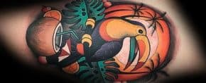 50 Toucan Tattoo Designs For Men – Large Beak Bird Ink Ideas