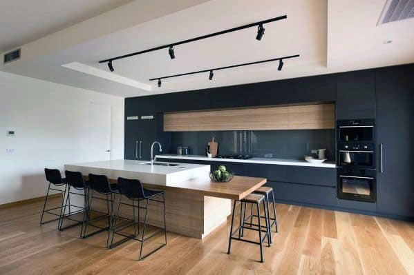 Track Lighting Kitchen Contemporary Interior Design