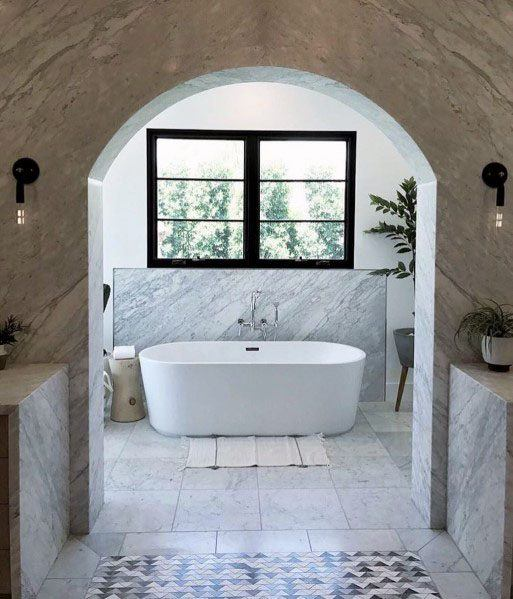 Traditional Arched Ideas For Marble Bathroom