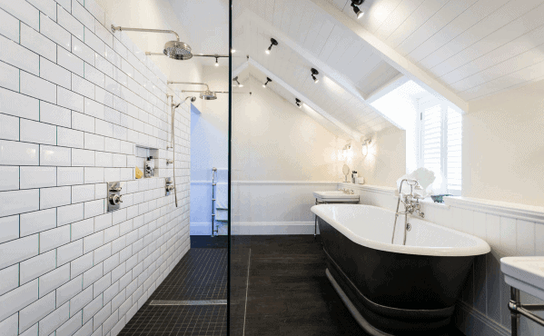 Traditional Bathroom Designs Shower Lighting