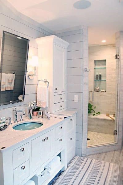 Traditional Bathroom Ideas For Home Corner Shower
