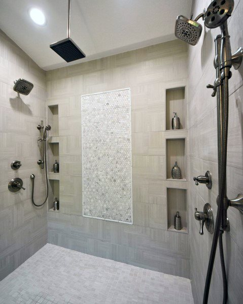 Traditional Bathroom Master Shower Niche Ideas