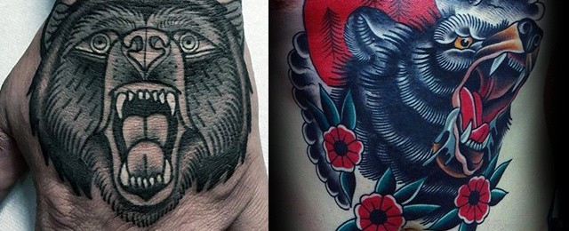 Traditional Bear Tattoo Designs For Men