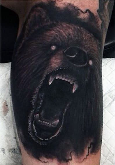 Traditional Bear Tattoo For Men