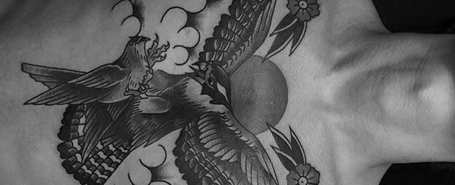 40 traditional bird tattoo designs for men old school ideas