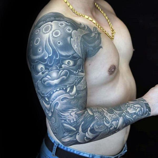 Traditional Chinese Mens Full Sleeve Tattoos