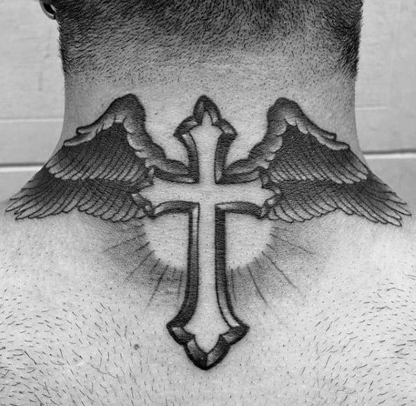 Traditional Cross Mens Tattoo Ideas