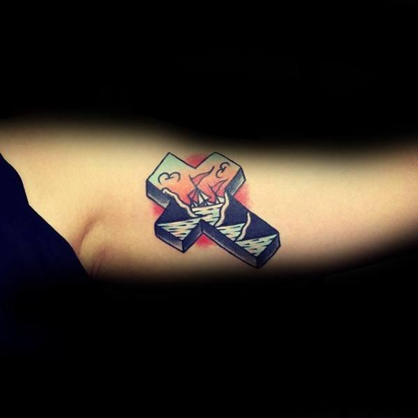 Traditional Cross Tattoos Guys