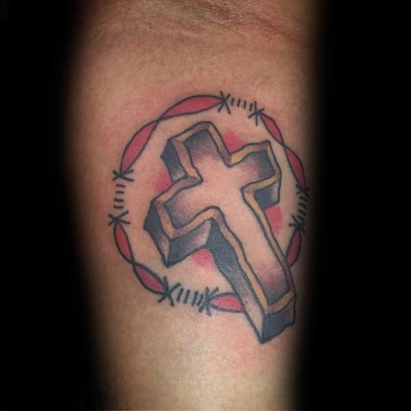 Traditional Cross Tattoos Men
