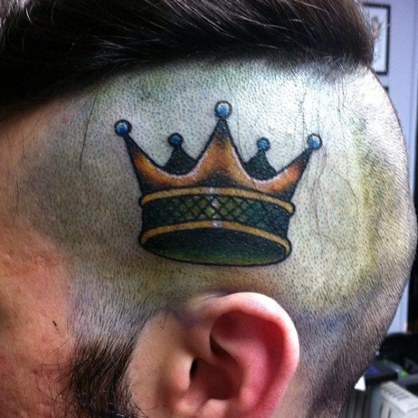 Traditional Crown Guys Tattoos
