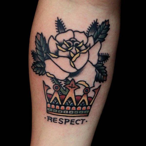 Traditional Crown Mens Tattoo Designs