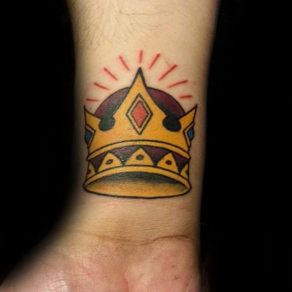 Traditional Crown Mens Tattoo Ideas