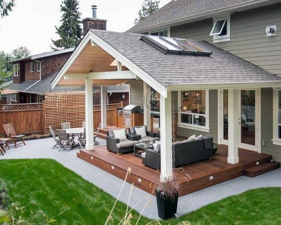 Top 40 Best Deck Roof Ideas - Covered Backyard Space Designs on Deck Over Patio Ideas id=35698