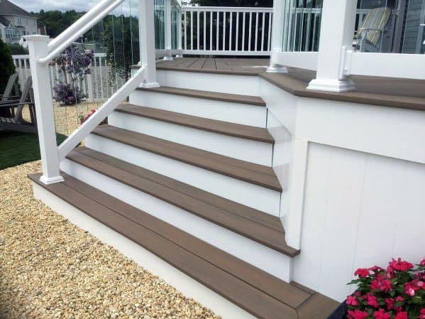 Traditional Design Ideas For Deck Steps