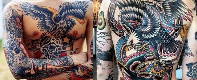 Traditional Eagle Tattoo Designs For Men