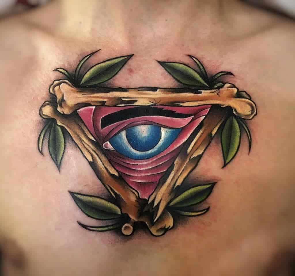 Traditional Flas Eye Tattoo