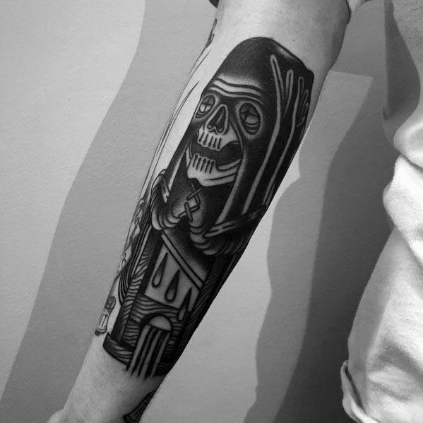 Traditional Forearm Guys Cool Executioner Tattoo Ideas