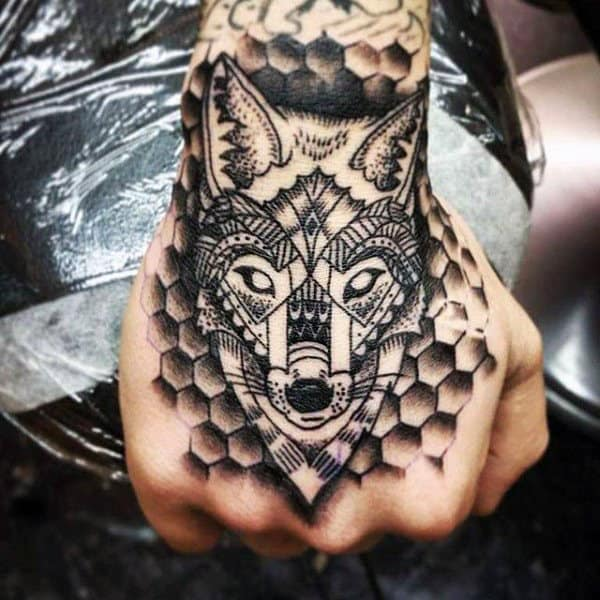 80 Honeycomb Tattoo Designs For Men