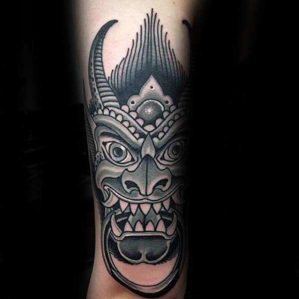 Traditional Gargoyle Male Tattoo Designs
