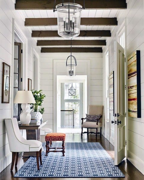 Traditional Glass Chandelier Ideas For Hallway Lighting
