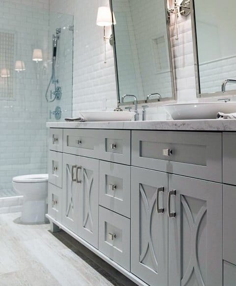 Traditional Grey Bathroom Vanity Idea Inspiration