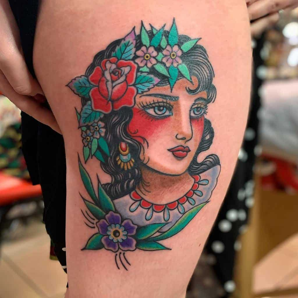 traditional gypsy rose tattoos joshltd