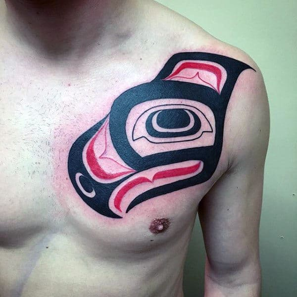Traditional Haida Tattoo Male Chest