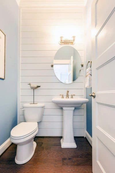 Traditional Half Bath Ideas With Pedestal Sink