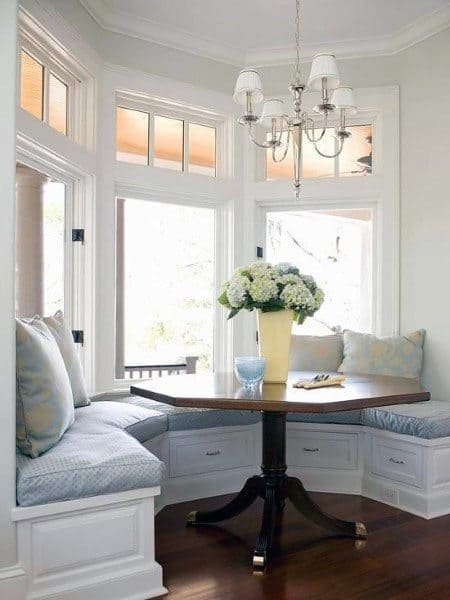 Traditional Half Circle Breakfast Nook