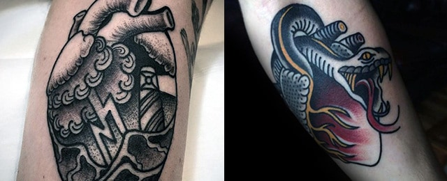 Traditional Heart Tattoo Designs For Men