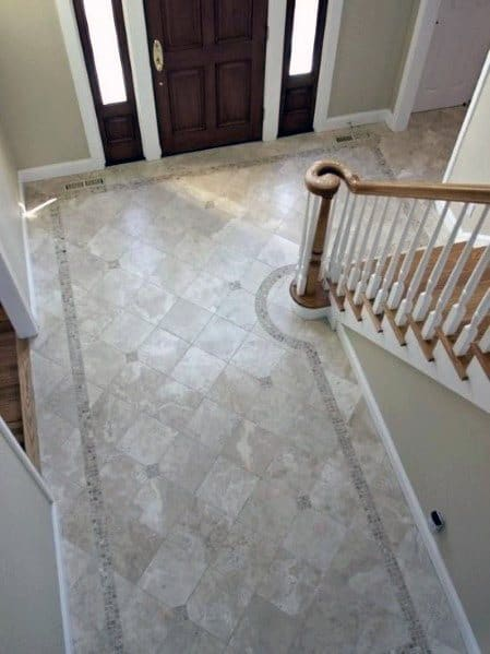 Traditional Home Entryway Tile Design Idea Inspiration