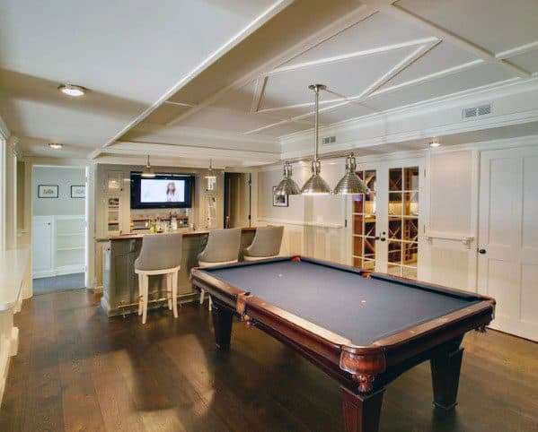Traditional Home Finished Basement Designs